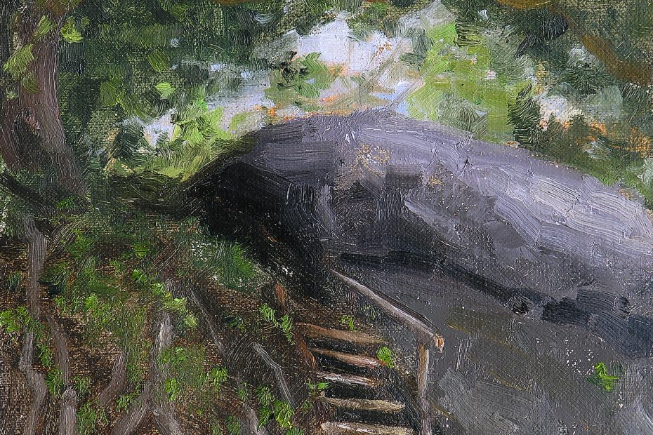 Steps Koh Pha-ngan Painting Seamus Berkeley