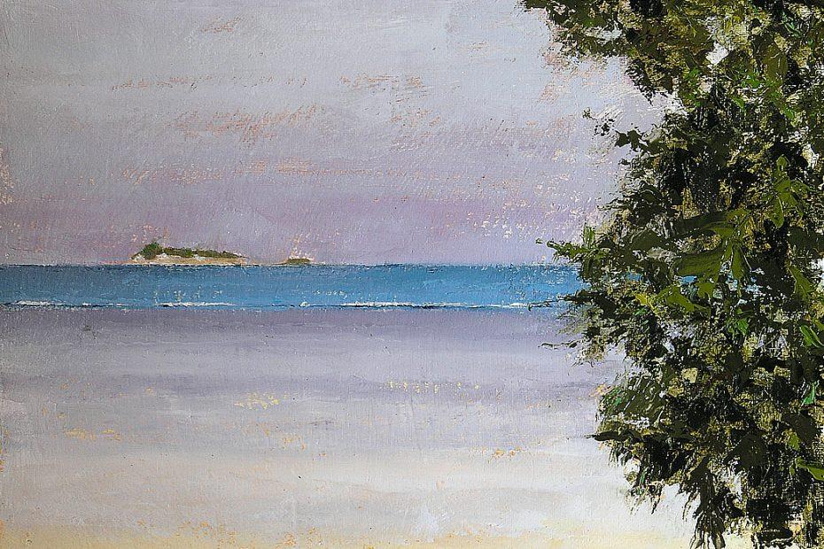 Trees Island Beach Painting Seamus Berkeley