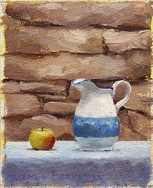 Apple Pitcher Painting Seamus Berkeley