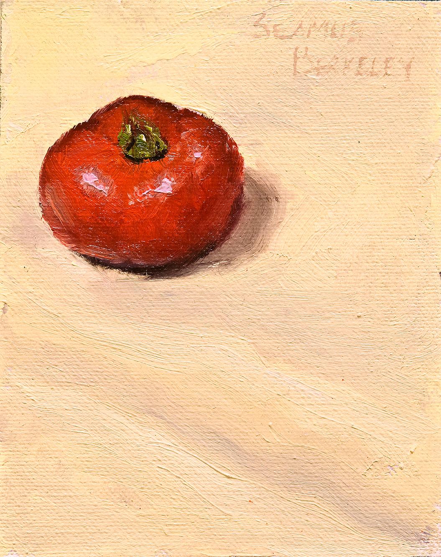 Violet Tomato Painting Seamus Berkeley