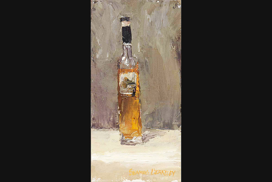 Bottle of Orange Painting Seamus Berkeley