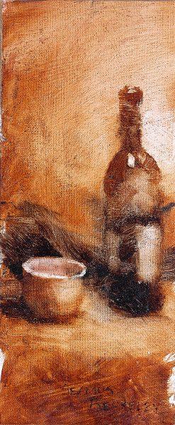 Bottle of Wine Painting Seamus Berkeley