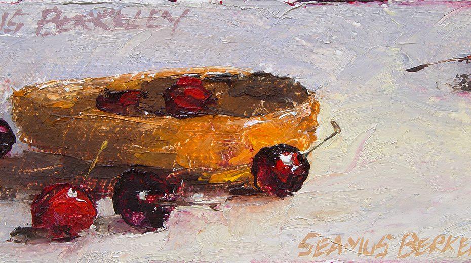 Cherries in a Basket Painting Seamus Berkeley