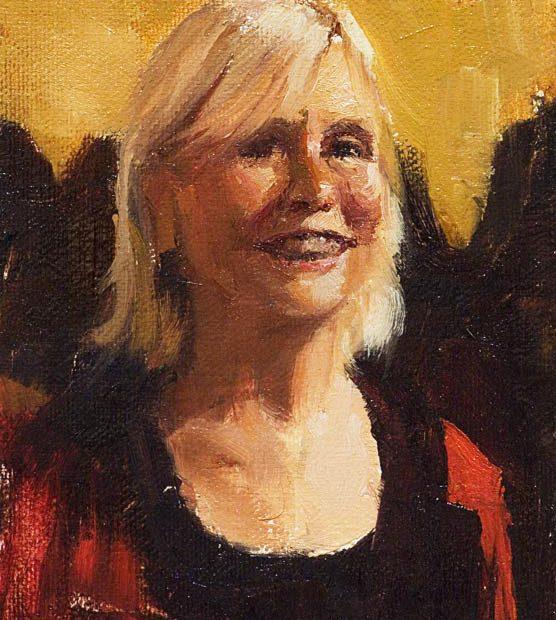 Edie Portrait Painting Seamus Berkeley