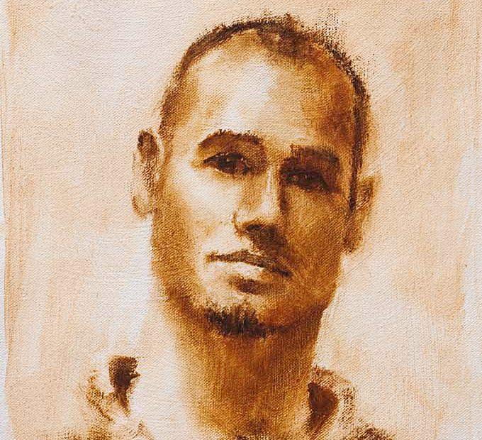 Enver Study Portrait Painting Seamus Berkeley