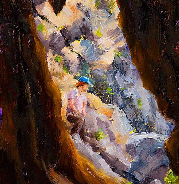 Hollow Tree Painting Seamus Berkeley