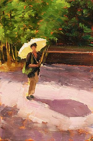 Parasol Painting Seamus Berkeley