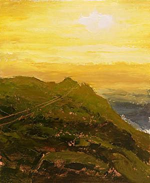 Progress 04 Point Reyes Lighthouse Painting Seamus Berkeley