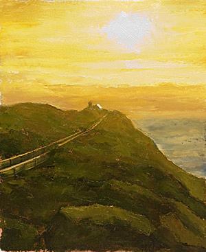 Progress 05 Point Reyes Lighthouse Painting Seamus Berkeley