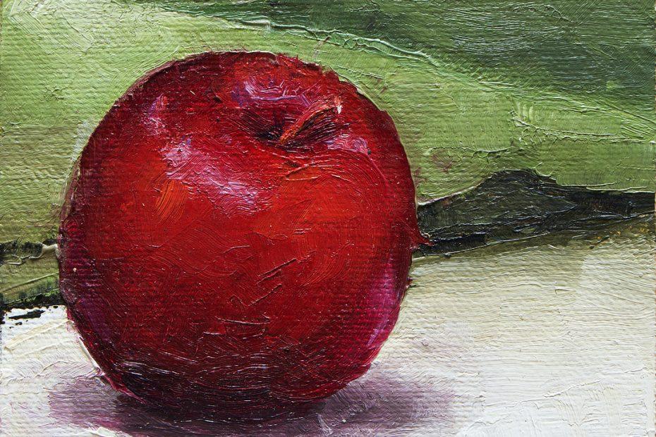 Red Plum Painting Seamus Berkeley