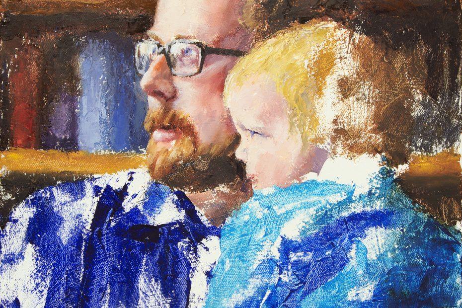 Ryan and Joel Green Progress 02 Portrait Painting Seamus Berkeley