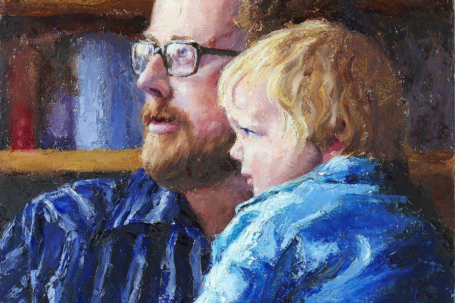 Ryan and Joel Portrait Painting Seamus Berkeley