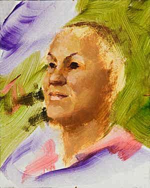 Shirley Progress 04 Portrait Painting Seamus Berkeley