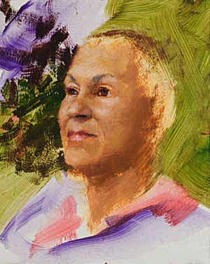 Shirley Progress 05 Portrait Painting Seamus Berkeley