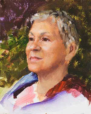 Shirley Progress 06 Portrait Painting Seamus Berkeley