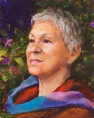 Shirley Progress 07 Portrait Painting Seamus Berkeley