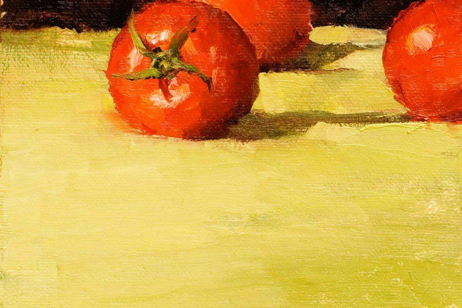 Sliced Tomatoes Painting Seamus Berkeley