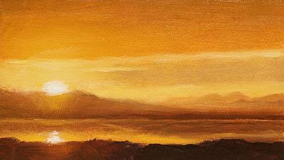 Sunrise Waterville Painting Seamus Berkeley