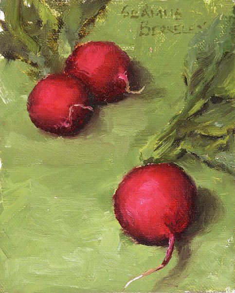 Three Radishes Painting Seamus Berkeley